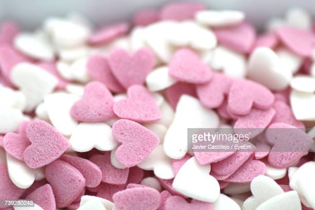 Close-Up Of Heart Shape Candy
