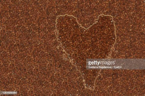 Close-Up Of Heart Shape In Water Over Food