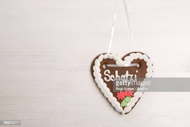 Close-Up Of Heart Shape Made Of Cookies