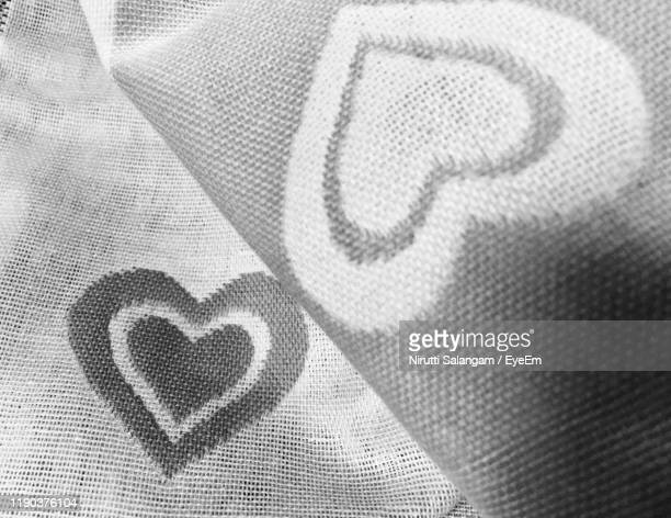 closeup of heart shape on textile picture