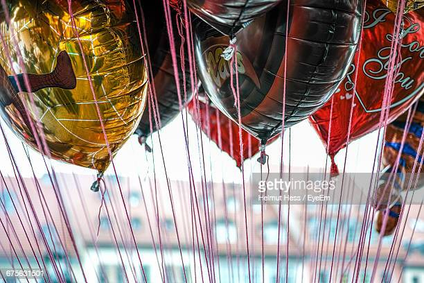Close-Up Of Helium Balloons