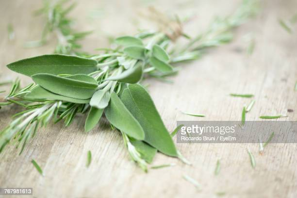 Close-Up Of Herbs On Table