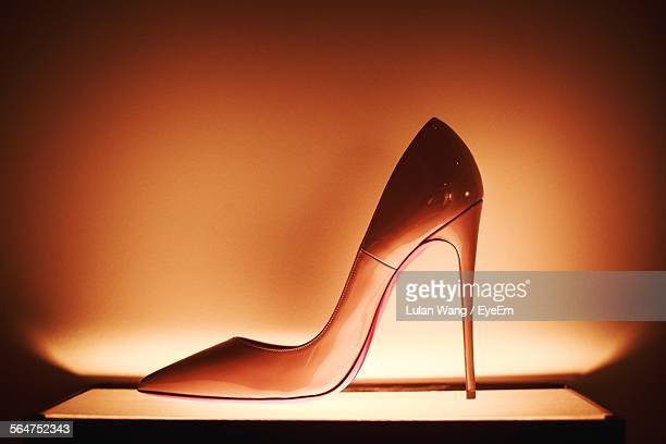 close-up of high heels shoe - high heels stock pictures, royalty-free photos & images