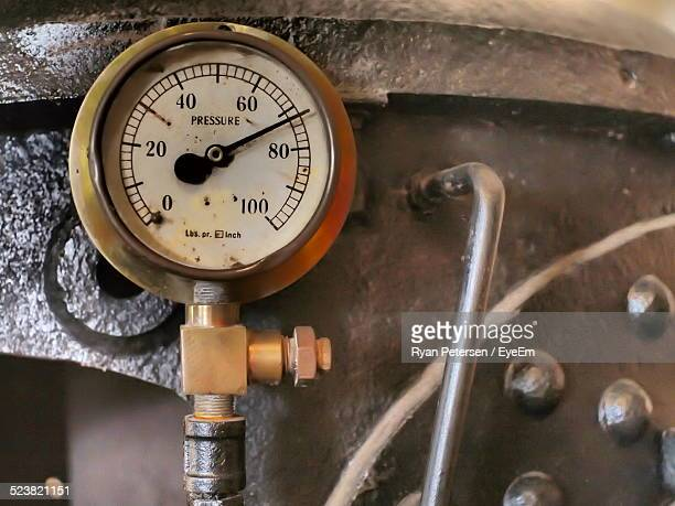 close-up of high pressure container - air valve stock photos and pictures
