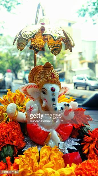 close-up of hindu god - ganesha stock photos and pictures