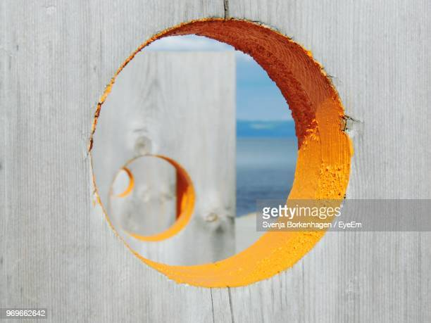 Close-Up Of Hole In Wooden Wall