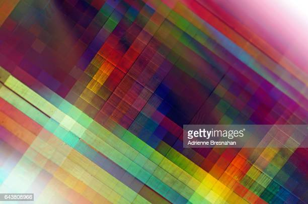 Close-Up of Holographic Craft Paper