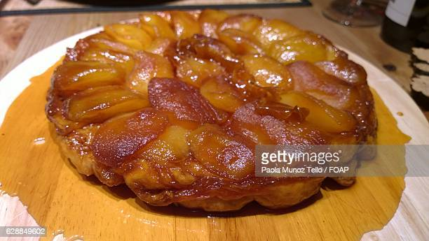 Close-up of home made tarte tatin
