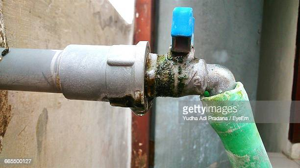 Close-Up Of Hose Attached To Faucet
