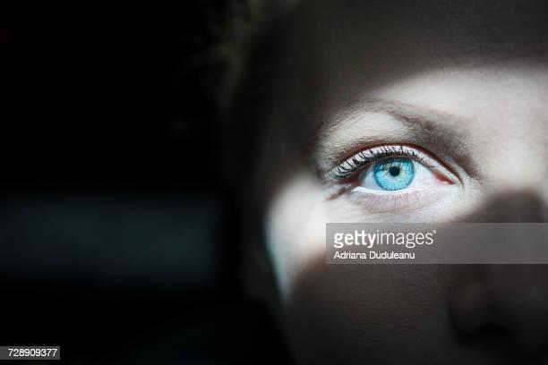 close-up of human eye - 眼 ストックフォトと画像