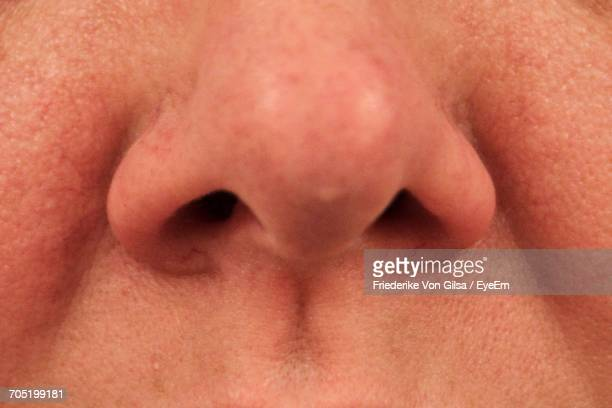 Close-Up Of Human Nose
