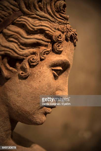 close-up of human sculpture - female likeness stock pictures, royalty-free photos & images