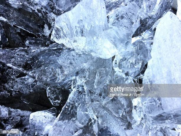 Close-Up Of Ice Formations