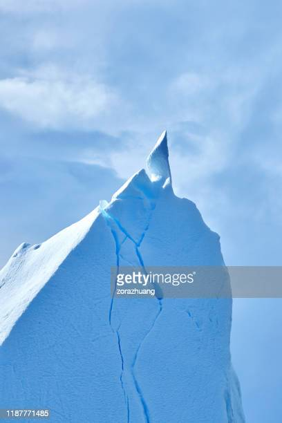 close-up of icebergs mountain peak, antarctica - south pole stock pictures, royalty-free photos & images