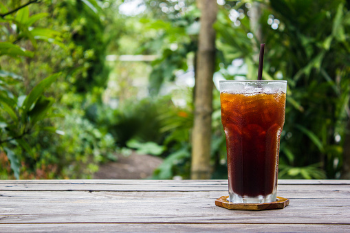 Close-Up Of Iced Coffee On Table - gettyimageskorea