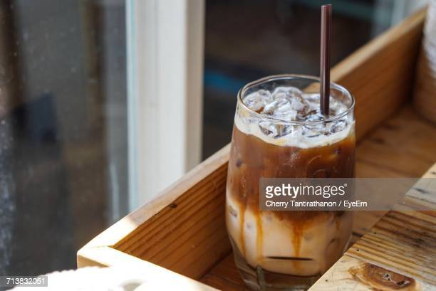 Close-Up Of Iced Coffee