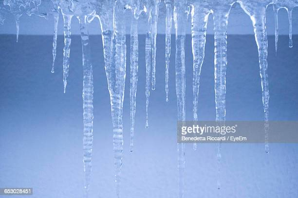 Close-Up Of Icicles During Winter