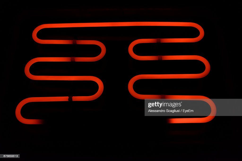Close-Up Of Illuminated Burner : Stock Photo