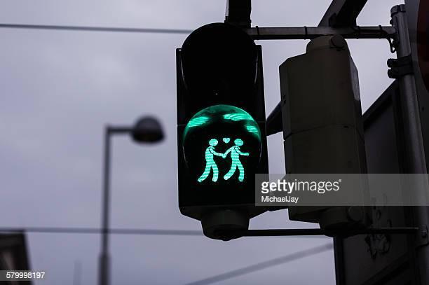 Close-Up Of Illuminated Road Signal