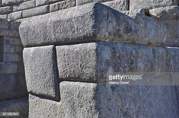 "closeup of inca ruins precision construction - ""markus daniel"" stock pictures, royalty-free photos & images"