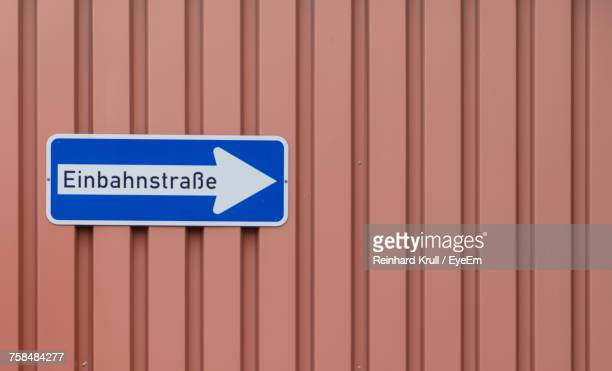 close-up of information sign on corrugated iron - corrugated iron stock photos and pictures
