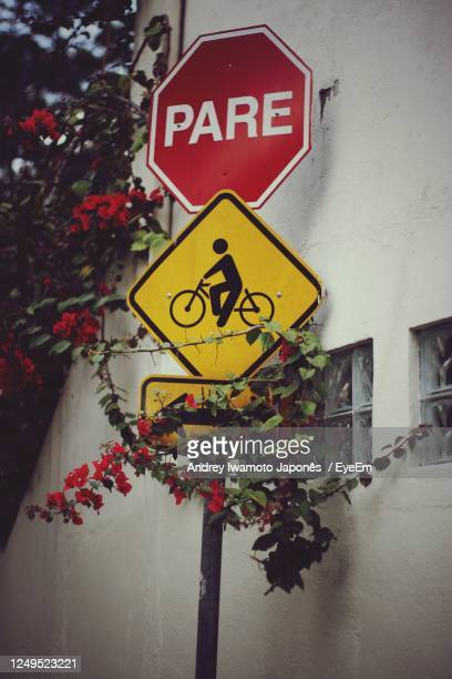 close-up of information sign on plant - japonês stock pictures, royalty-free photos & images