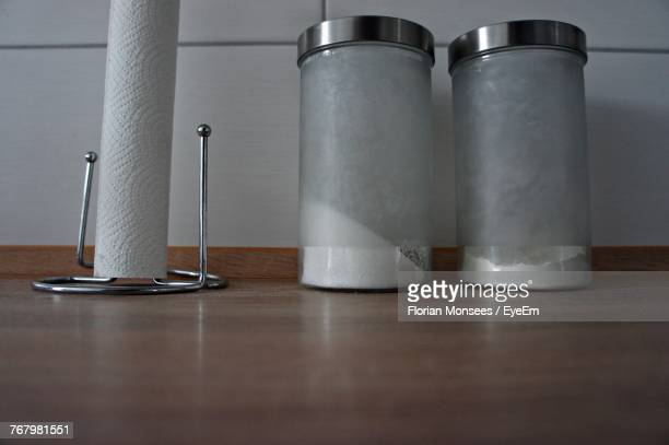 Close-Up Of Ingredient In Jars On Table
