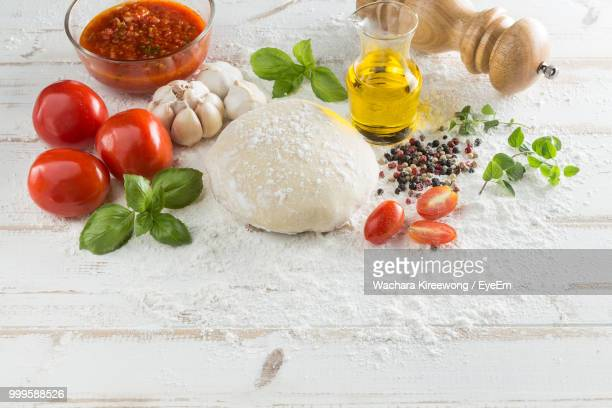 Close-Up Of Ingredients On Table