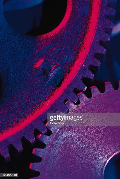 Close-up of interlocking gears