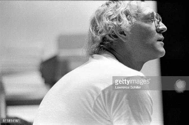 Closeup of Irish actor Richard Harris during a break in the filming of 'A Man Called Horse' Mexico 1968