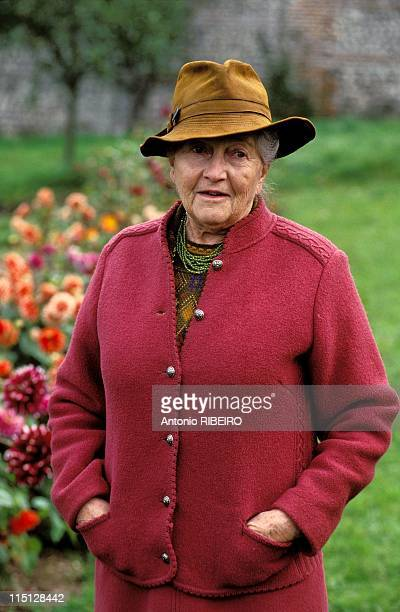 Closeup of Isabelle of Orleans countess of Paris France on October 22 2003
