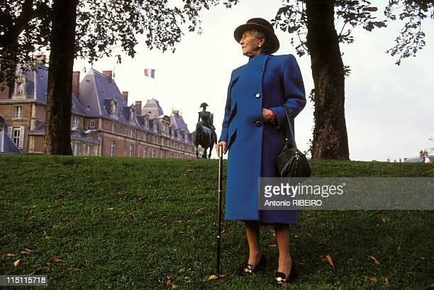 Closeup of Isabelle of Orleans in France on October 22 1993 At the castle of Eu