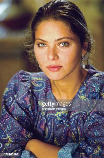 Closeup of Italian actress Ornella Muti 1985