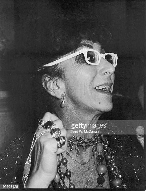 Closeup of Italian film director Lina Wertmuller at an unidentified event January 28 1978