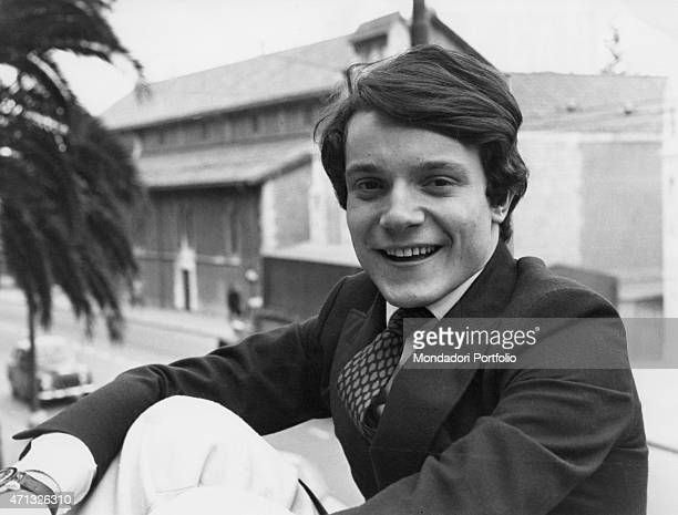 Closeup of Italian singer and theatre actor Massimo Ranieri photo shooted at the 19th Sanremo Music Festival Sanremo 1969