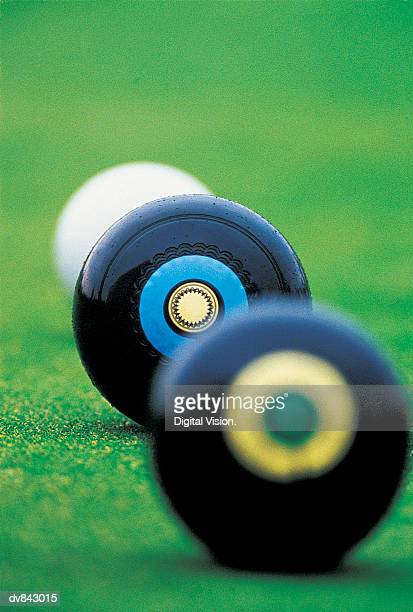 Close-up of Jack and Two Bowling Balls