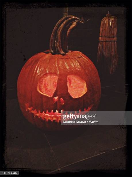 close-up of jack o lantern - melodee devevo stock photos and pictures