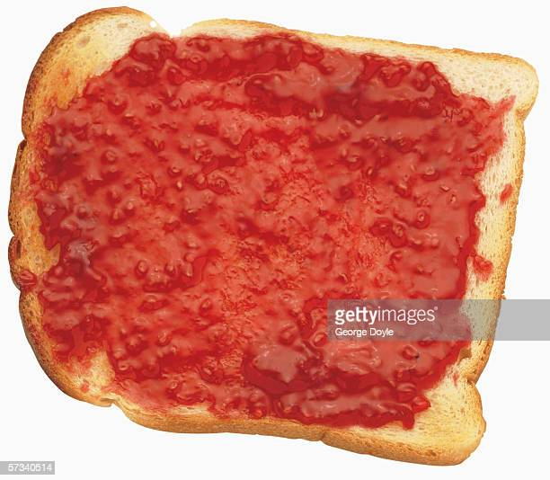 close-up of jam on bread