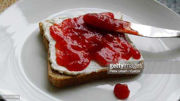 Close-Up Of Jam On Toast