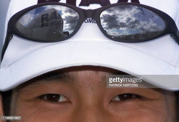 Closeup of Japanese Arrows driver Toranosuke Takagi taken in the paddocks of the racetrack in Spielberg 23 July 1999 two days before the start of the...