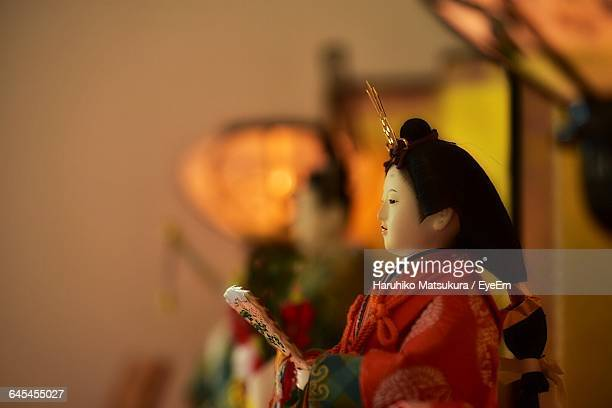 close-up of japanese doll - hinamatsuri stock pictures, royalty-free photos & images