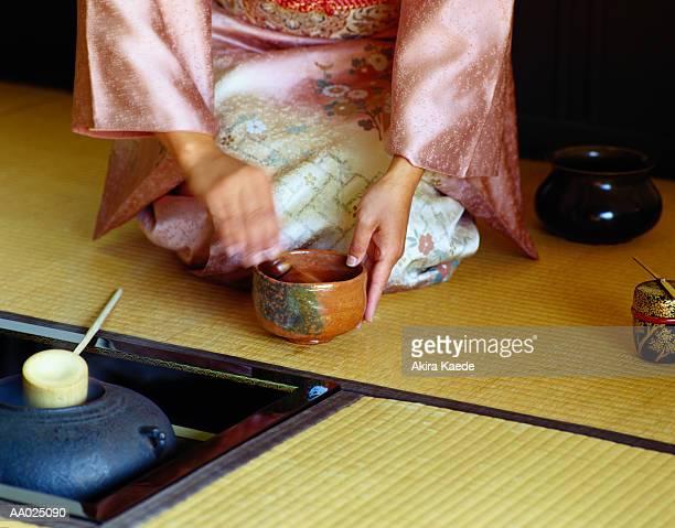 Close-Up of Japanese Tea Ceremony