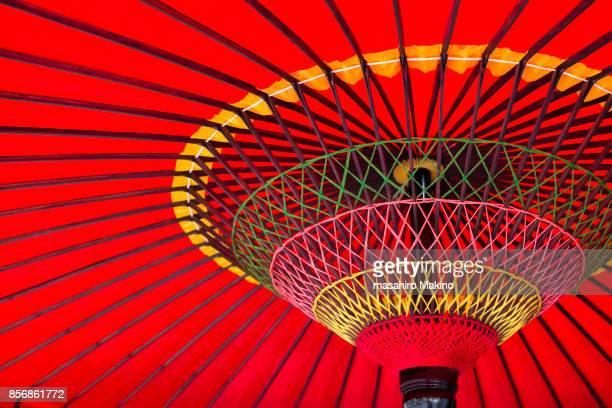 close-up of japanese umbrella - 伝統 ストックフォトと画像
