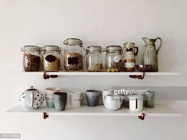 close-up of jars and cup - jar stock pictures, royalty-free photos & images