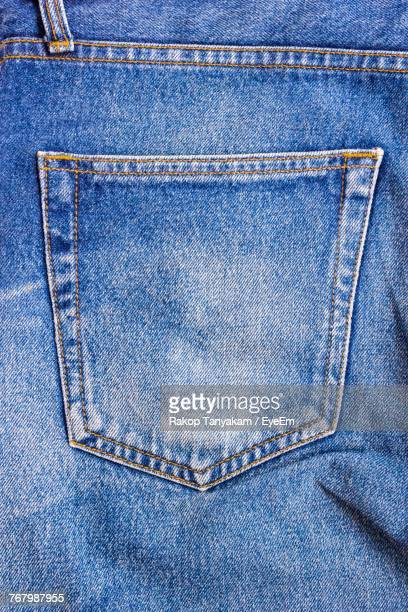 Close-Up Of Jeans Pocket