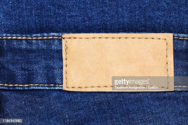 close-up of jeans tag - label stock pictures, royalty-free photos & images