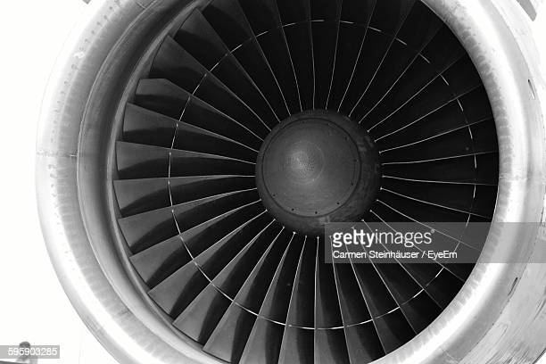 close-up of jet engine - jet engine stock photos and pictures