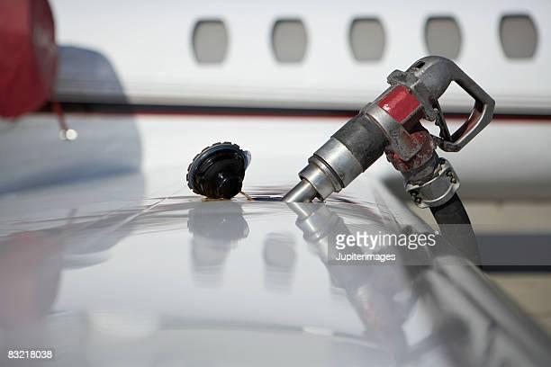 Close-up of jet fuel pump