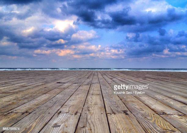 Close-Up Of Jetty On Sea Against Sky