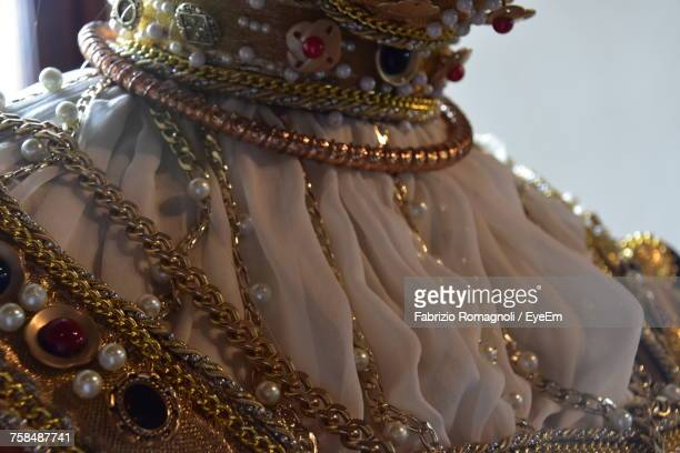 Close-Up Of Jewelry On Mannequin